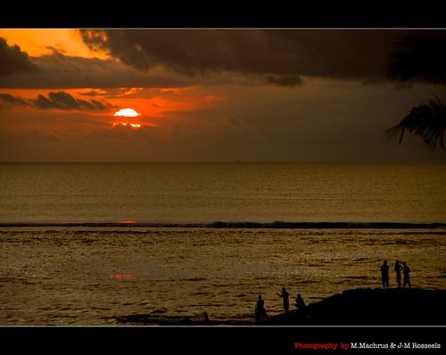 sunset sea people bali sun colors canon indonesia fisherman palmtree kutabeach canon7d