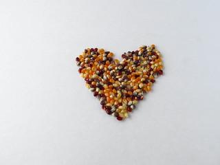 Popcorn corazon