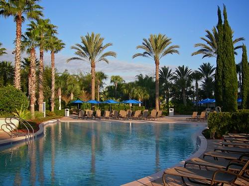 usa hot pool sunshine work orlando warm florida january swimmingpool palmtrees universal 2009 omnihotel championsgate promethean