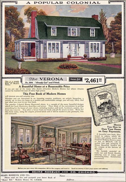 1919 Ad for Sears Verona