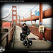 Ivana cycling the Golden gate Bridge