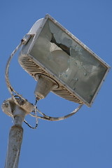 Busted floodlight