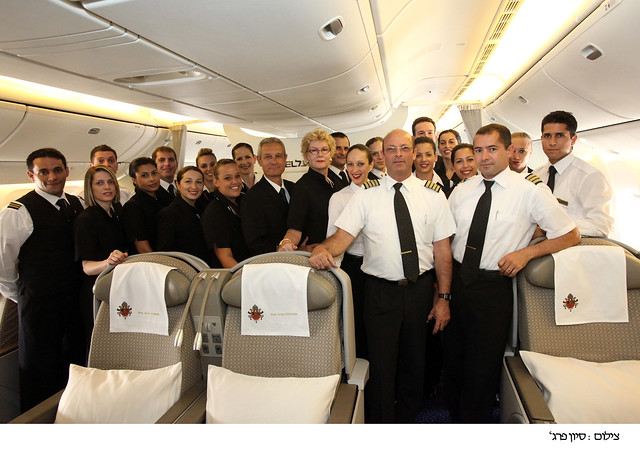 The Pope flight: EL AL's Boeing 777 flight crew