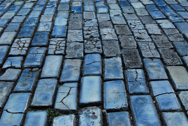 Blue brick streets of Old San Juan