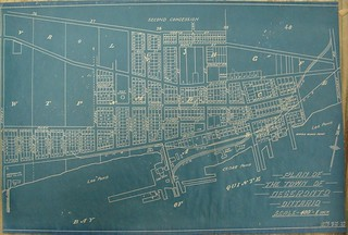 Web App Design: 1930s Plan of Deseronto lots