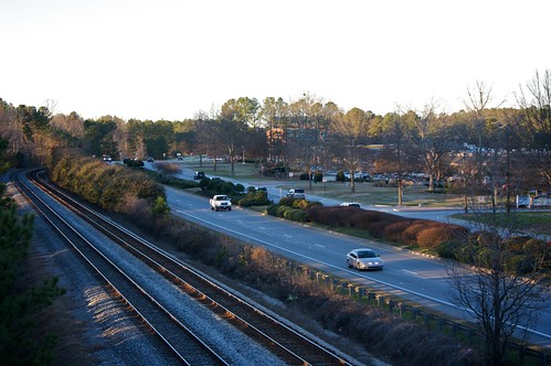 road railroad bridge georgia evening path peachtreecity ptc