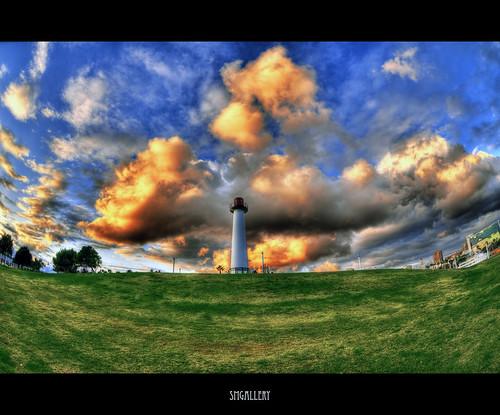 california ca sunset lighthouse colors clouds marina nikon searchthebest fisheye queenmary longbeach adobe shorelinepark hdr longbeachaquarium d300 cs3 thepike tonemapped 9exp 105mm28 stephenmoore photoshopcs3 smgallery nikond300 photomatixpro31