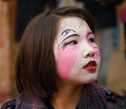 A face in the crowd at the Chinese New Year celebrations in Southend