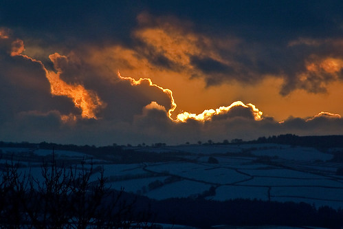 sunset snow somerset exmoor
