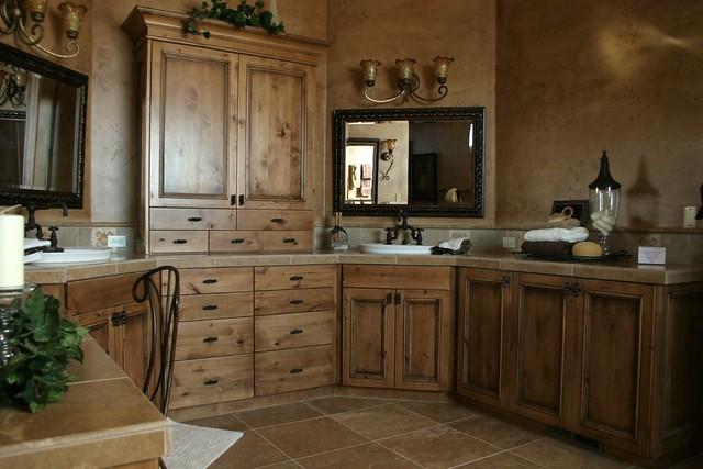 Knotty Alder With Glaze Master Bathroom Tree City Woodwork Flickr Photo Sharing