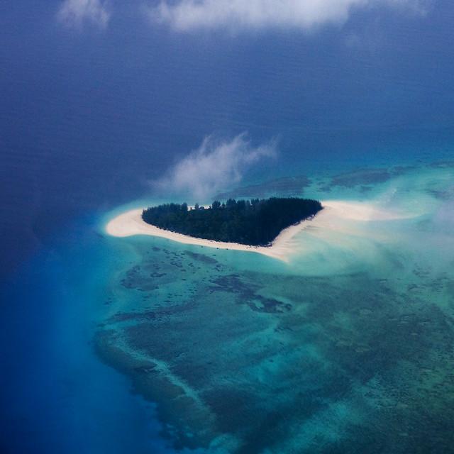 Heart island? Mnemba Island, Tanzania