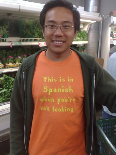 Esto es en español cuando no se está mirando