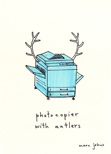 photocopier with antlers