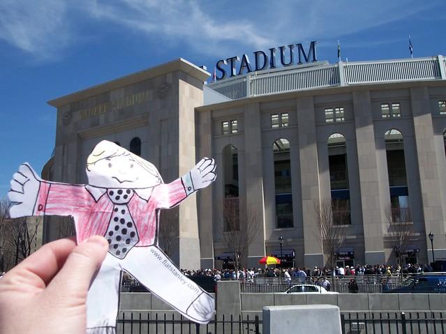 Flat Stanley Yankee Stadium Exterior