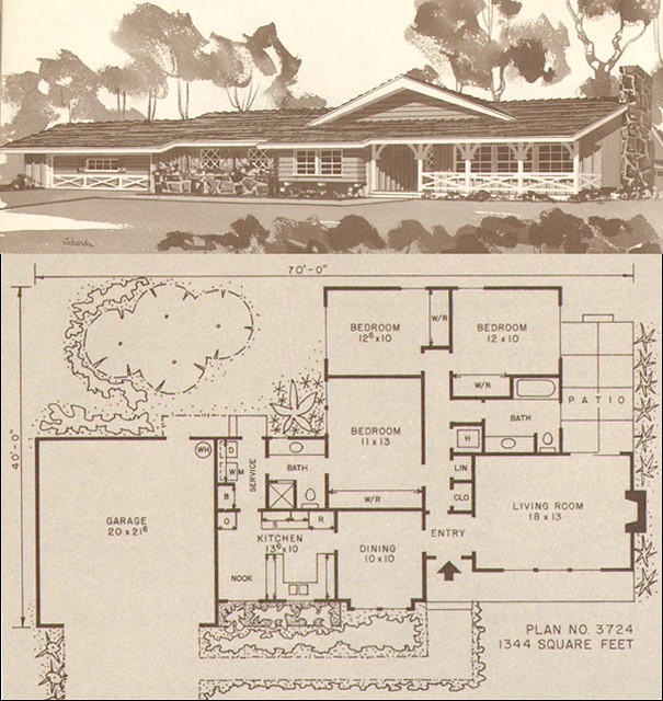 1960s Ranch House Plans