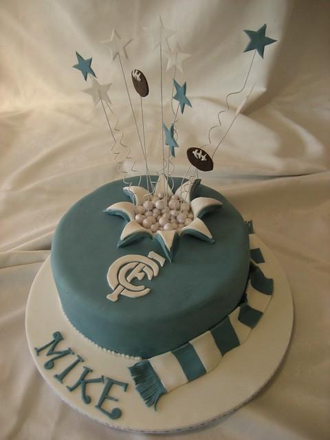 Carlton Footy Cake A Carlton Football Club Birthday Cake