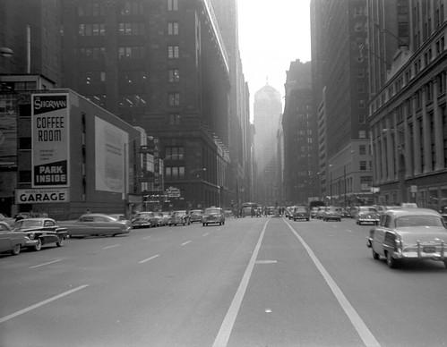 LaSalle Street in 1954