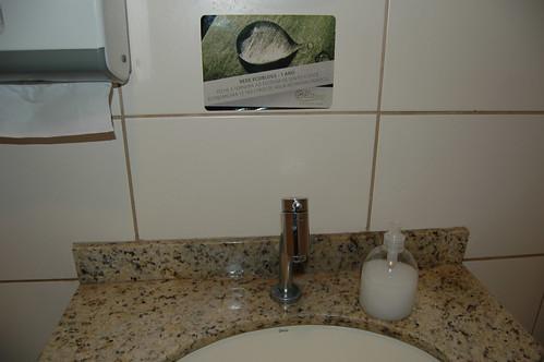 Adesivo Ecoblogs no Banheiro