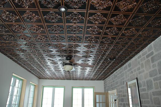 Tin Ceiling Tiles Kitchen Backsplash