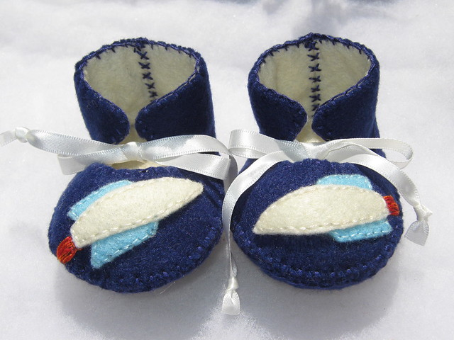 Baby Boy Booties Cake Topper