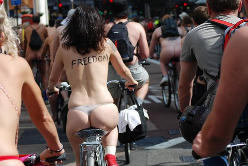 World Naked Bike Ride 2009 - London