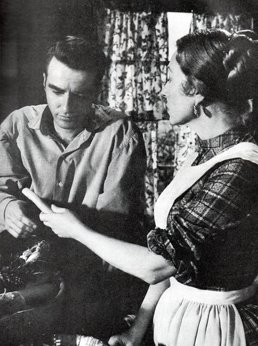 "Montgomery Clift, Agnes Moorehead in ""Raintree County"", 1957"