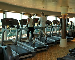exercise machine, room, physical fitness, gym,