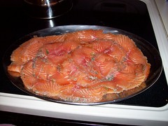 salmon(1.0), salmon-like fish(1.0), fish(1.0), seafood(1.0), meat(1.0), food(1.0), dish(1.0), cuisine(1.0), smoked salmon(1.0),