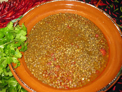 Students across the country will celebrate International School Meals Day with special events, like international food taste testings. Lentils, like those pictured in this lentil stew, are high in protein and eaten in abundance throughout Mediterranean countries and West Asia.