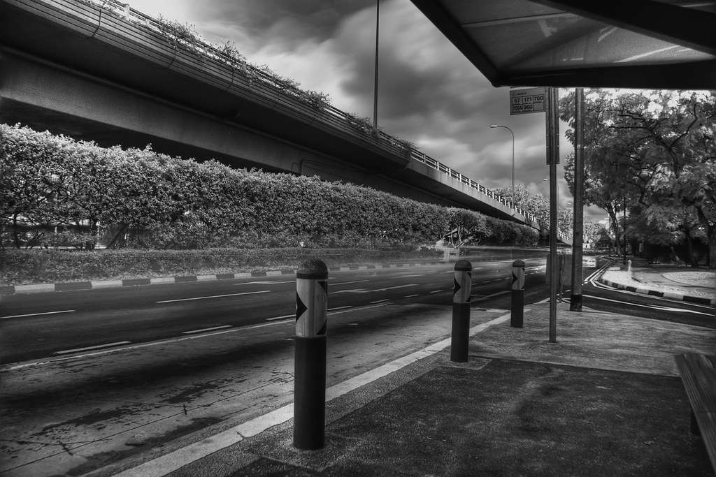 Crash Barriers - Infrared HDR