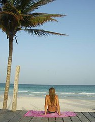 beautiful beach at Riviera Maya