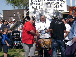 Drummers at Protest for Klamath Salmon