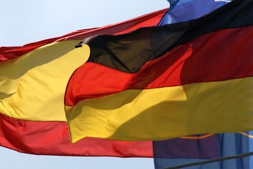 Banderas de España y Alemania