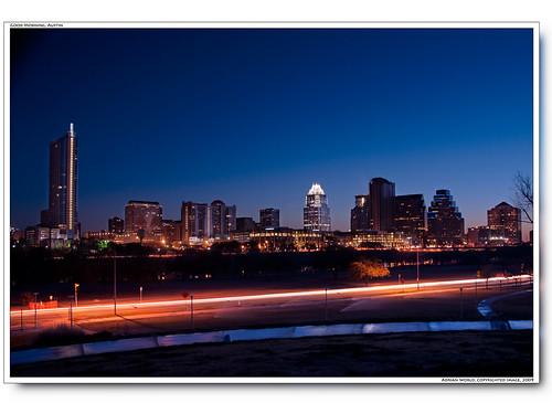 usa skyline america sunrise austin dawn twilight nikon exposure downtown texas nightscape d300 longtime