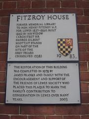 Photo of George Gilbert Scott grey plaque