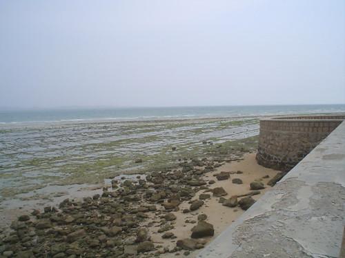 Mar no Golfo Pérsico na Ilha Qeshm no Irao