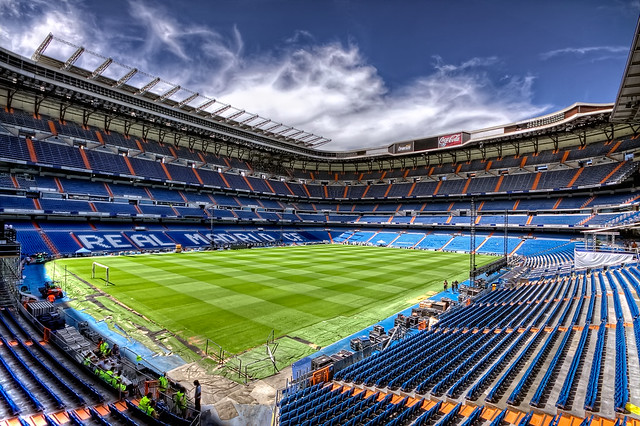 Real Madrid CF, Santiago Bernabéu Stadium, Madrid HDR