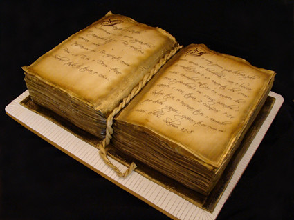 Cake Decorated To Look Like A Book