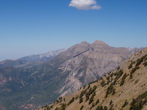 Mount Timpanogos from the Cascade Mountain ridge.