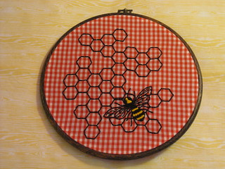 hexagons and bee 002