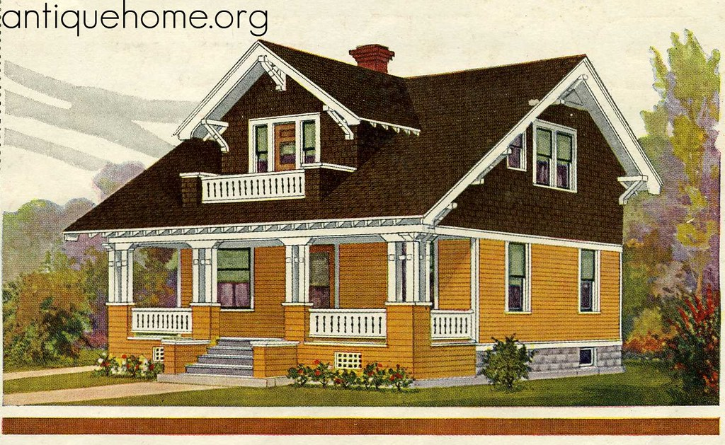 Sears 1930 bungalow house plans for Vintage bungalow house plans