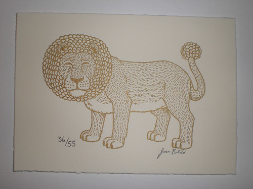 Golden Lion Gocco Print