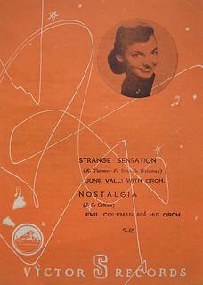 Victor record insert, Japan c.1952
