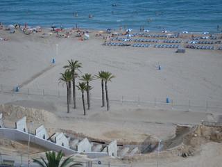 Obras en el paseo de la Playa de Poniente de Benidorm
