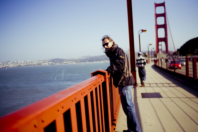 Scott on the Golden Gate Bridge