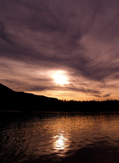 Sunset over the Clark Fork River