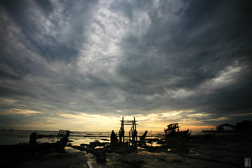 Gloomy Sunset At Bagan Sekinchan