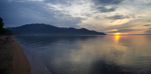 Sunset on Lake Baikal