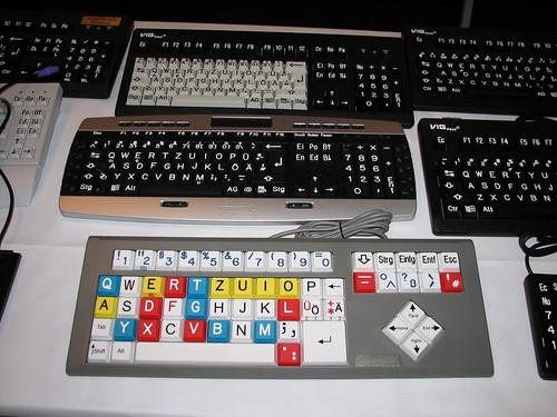 Speciálně upravené klávesnice