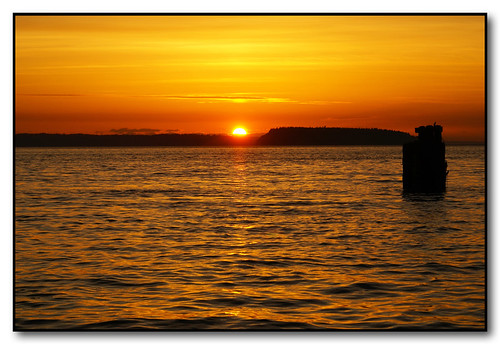 sunset water clouds washington pugetsound everett portofeverett